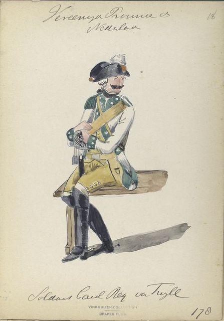 Soldaat Cavalerie Regiment va Tuyll. 1787
