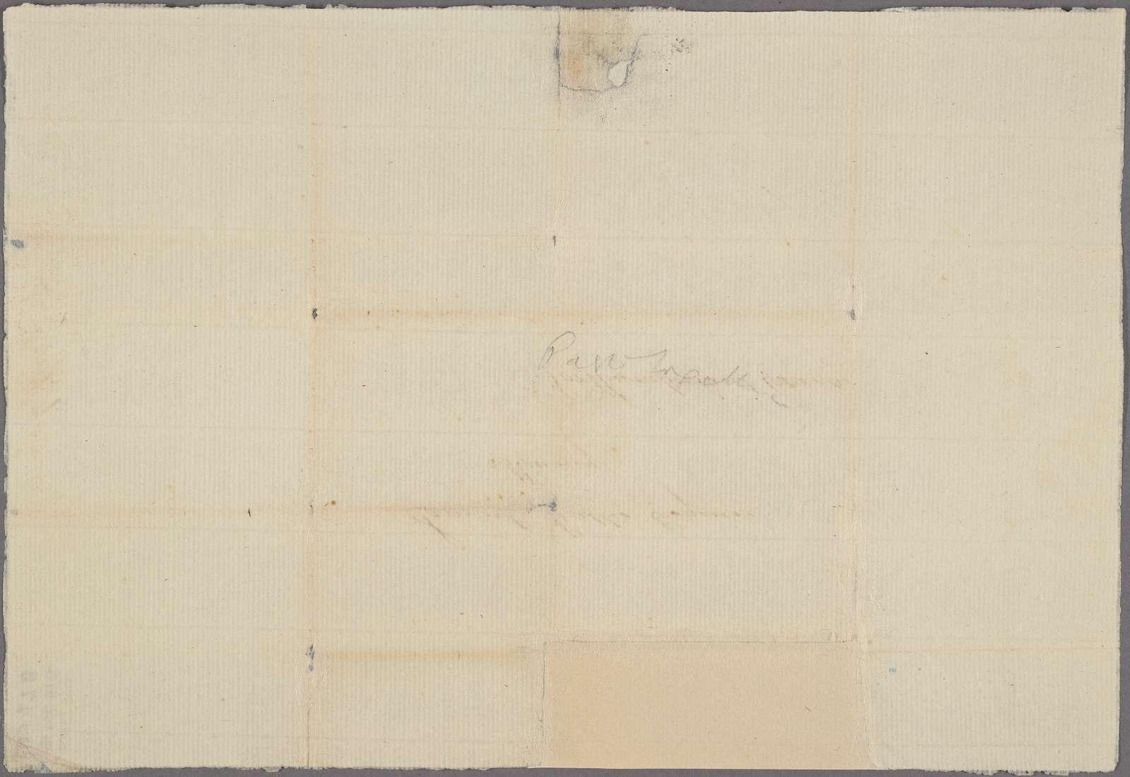Letter to Samuel Wallis, Muncy, Northumberland County [Penn.]