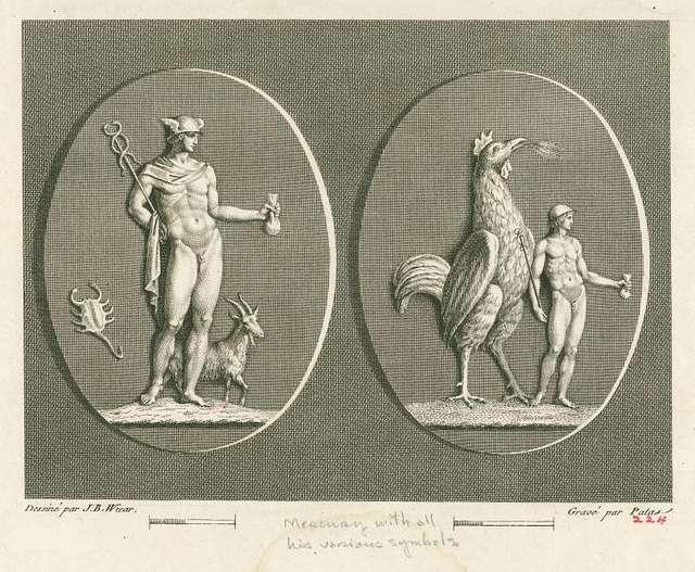 Mercury with his various symbols
