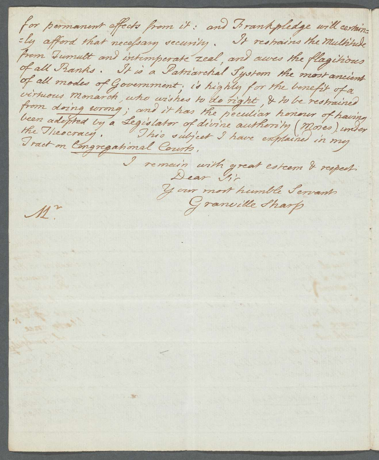 Two letters from Granville Sharp to Jacques-Pierre Brissot de Warville