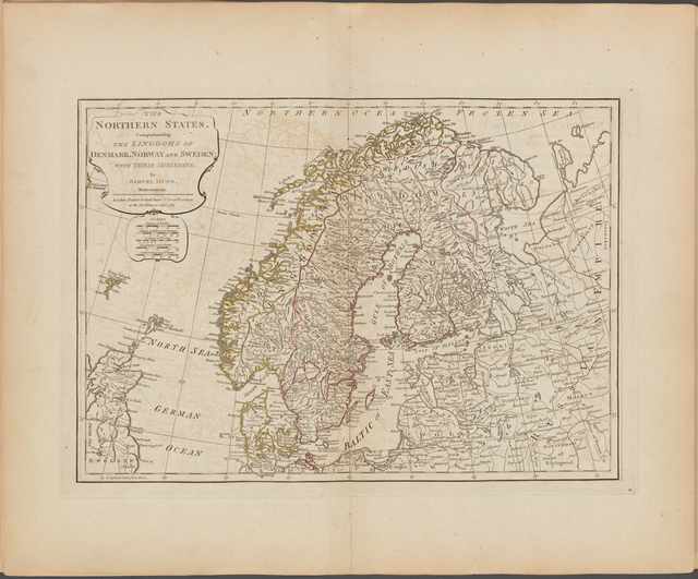 The Northern States, comprehending the Kingdoms of Denmark, Norway and Sweden; with their divisions