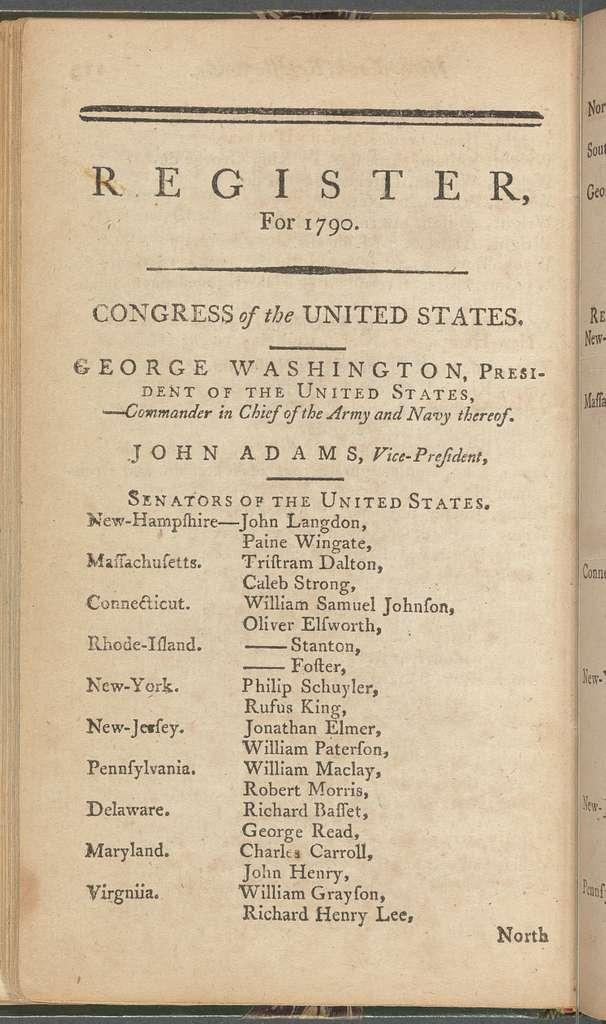 New York City directory, 1790