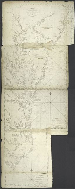 Chart of the coast of America : From Albermarle Sound to Cape  Lookout.