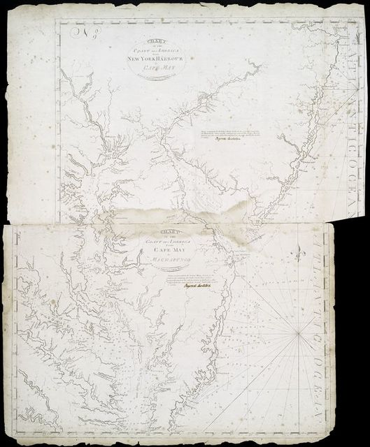 Chart of the coast of America : From New York Harbour to Cape May.