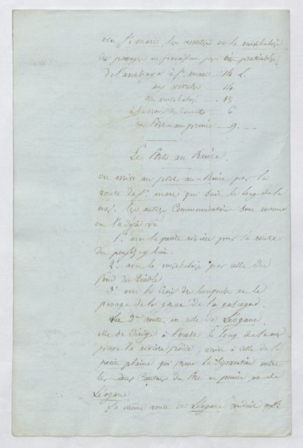 Notes on the different roads of the western part of St.Domingue