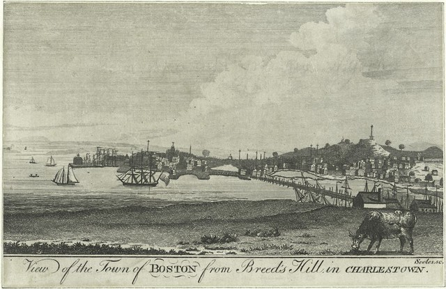 View of the town of Boston from Breed's Hill, in Charlestown.