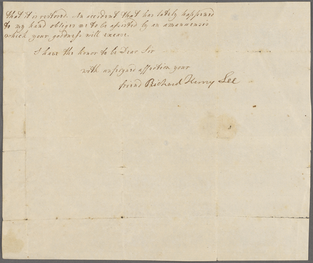 Richard Henry Lee Correspondence