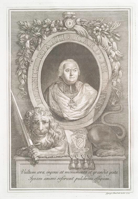 Franc Ioach. Card. de Bernis [portrait of Francisco Joachino de Pierre de Bernis]