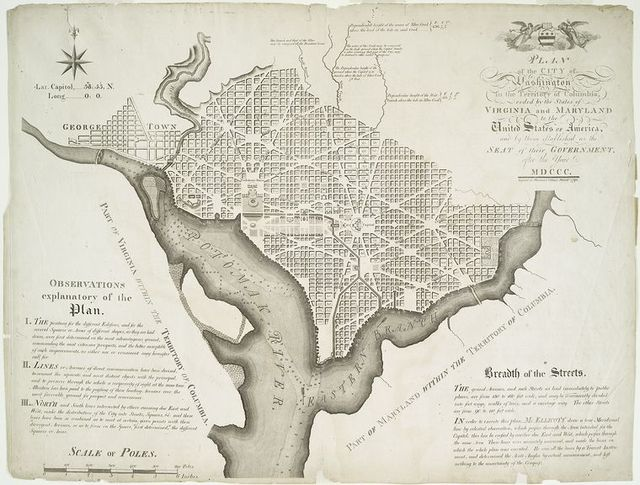 Plan of the city of Washington in the territory of Columbia....