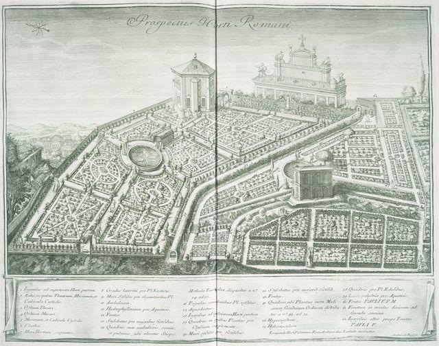 Prospectus I-Corti Romani. [Plan of Rome]