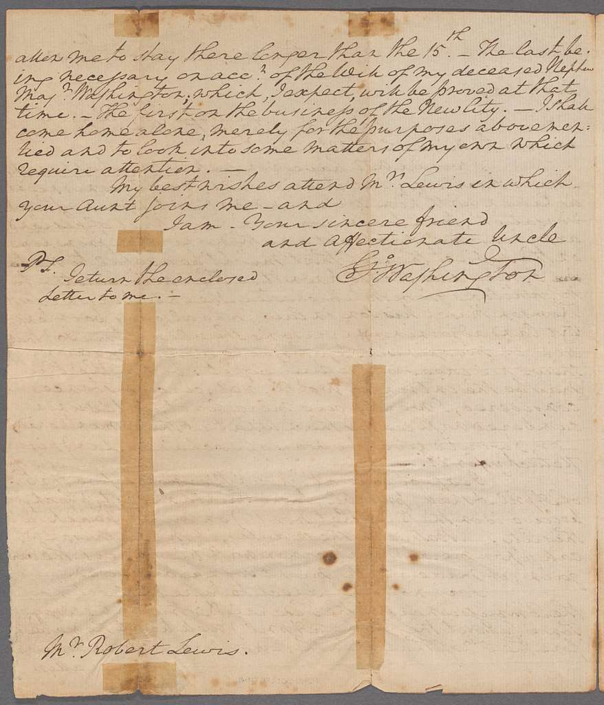 Letter to Robert Lewis