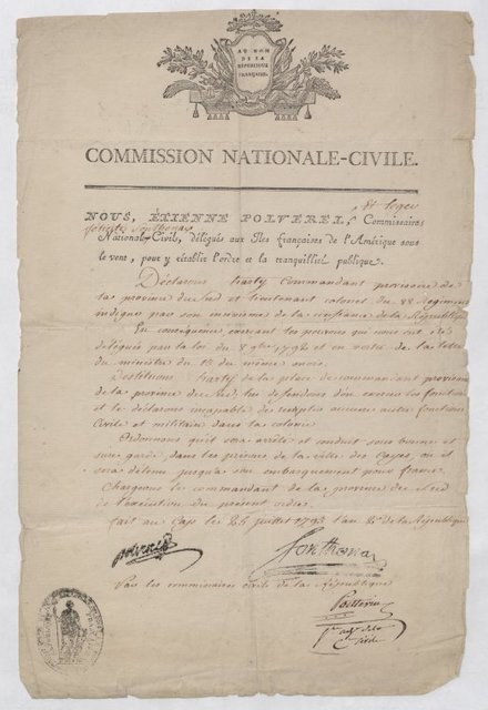 National Civil Commission of the Republic, Étienne Polverel & Léger-Félicité Sonthonax