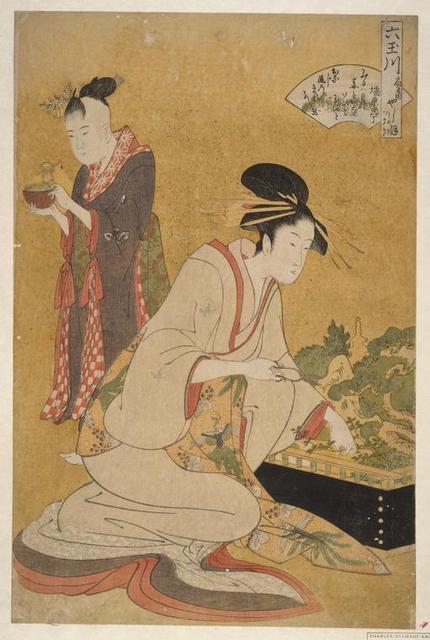 Ôgiya uchi Yashio, Someki, Tsumaki = [Yashio of the Ôgiya, [kamuro:] Someki, Tsumaki]