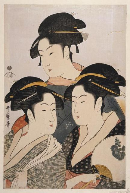 Tôji san bijin] = [Three beauties of the present day]