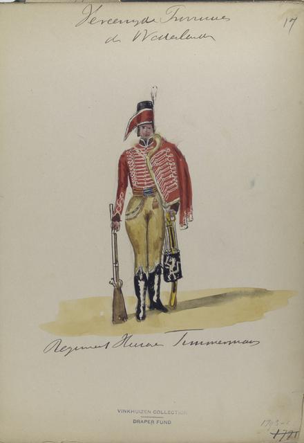Vereenigde Provincien der Nederlander. Regiment [...] Timmerman.