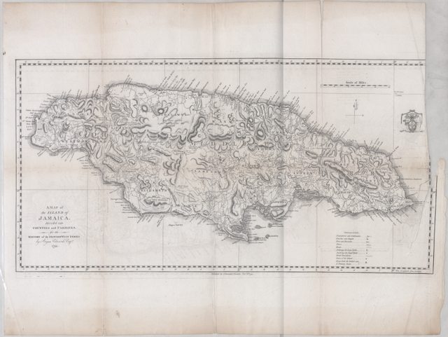 A map of the Island of Jamaica, divided into counties and parishes, for the History of the British West Indies by Bryan Edward