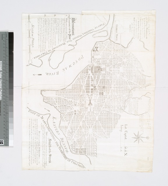 Plan of the city of Washington in the territory of Columbia : ceded by the states of Virginia and Maryland to the United States of America, and by them established as the seat of their government after the year MDCCC