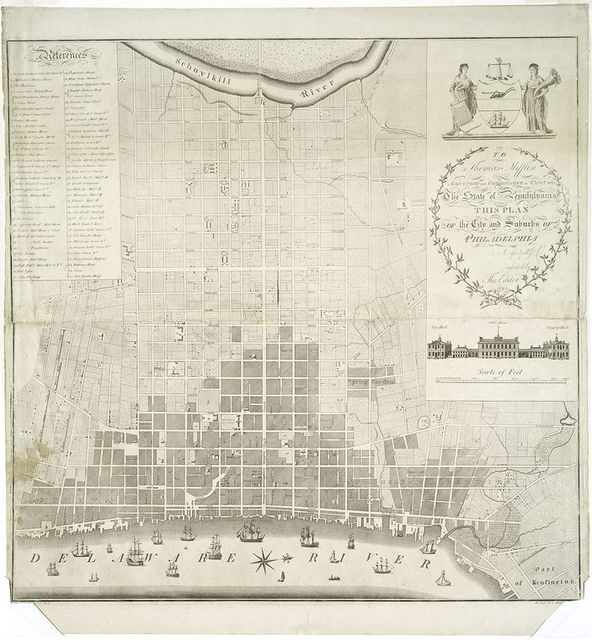 To Thomas Mifflin ... this plan of the city and suburbs of Philadephia....