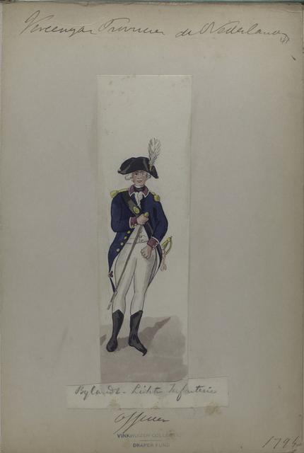 Vereenigde Provincie a Nederland, Bylandt - Licht Infanterie Officier