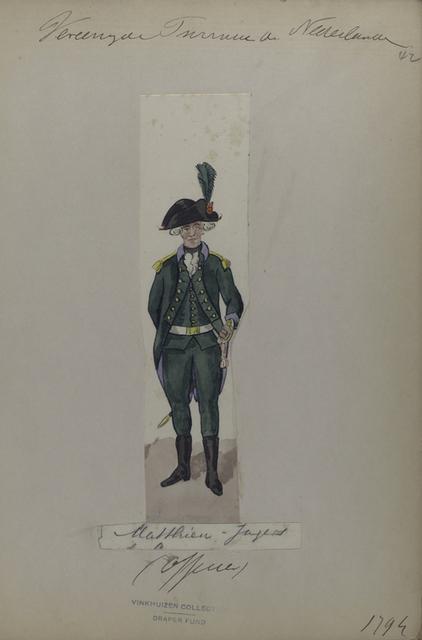 Vereenigde Provincie a Nederland, Musketier-Jagers (Officier)