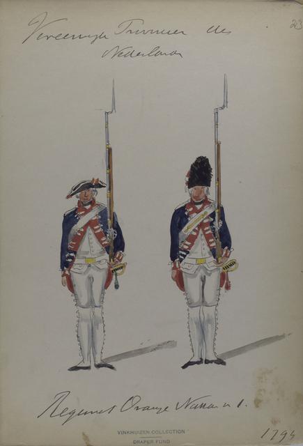 Vereenigde Provincie de Nederland, Regiment Oranje Nassau 1