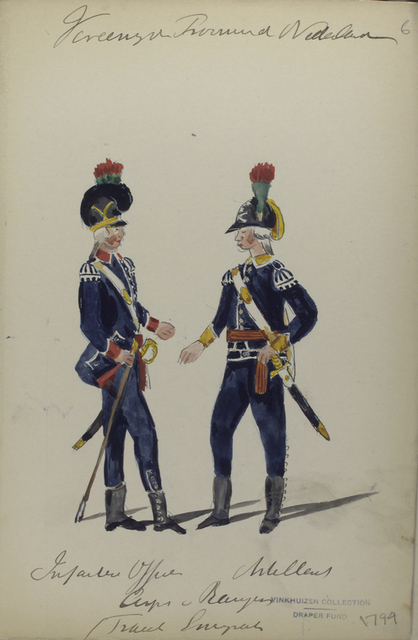 Vereenigde Provincie der Nederland, Infanterie Officier [...] Corps Bayern  (France Emigrant)