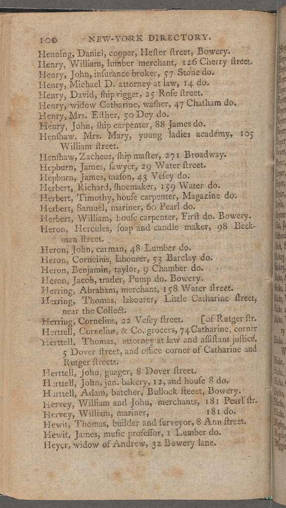 New York City directory, 1795