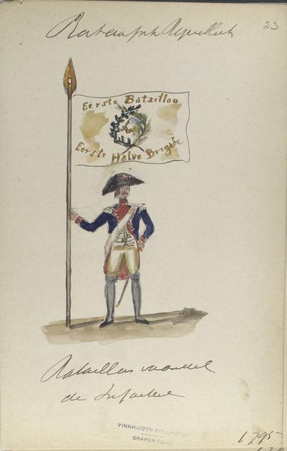 Bataillon vaandel de Infanterie. 1795