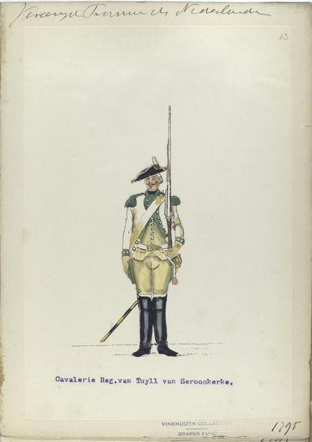 Cavalerie Regiment van Tuyll van Serooskerke. 1795