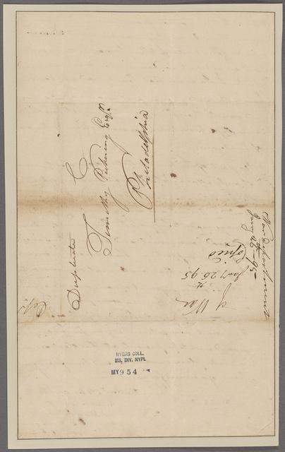 Morgan, Daniel. McFarlins Ferry. To Timothy Pickering