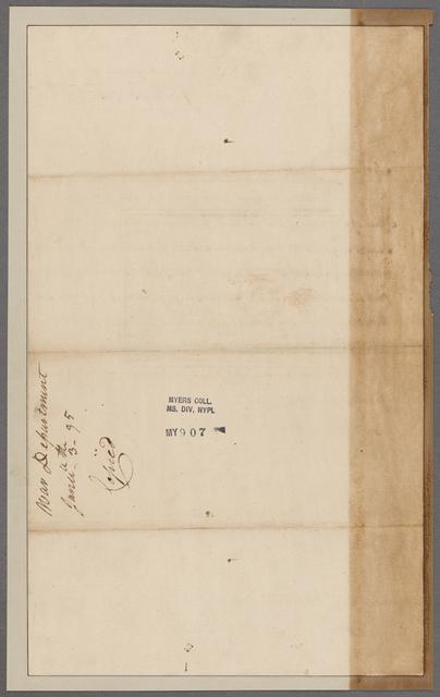Stagg, John, Jr. Department of War. To General Morgan