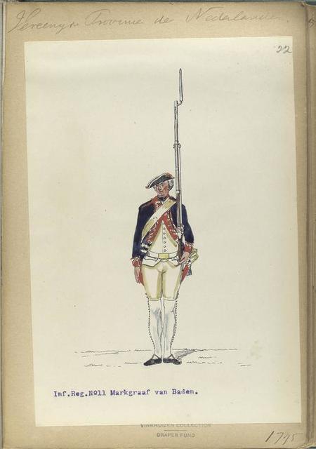 Vereenigde Province de Nederland, Inf. Reg. No. 11 Markgraaf van Baden