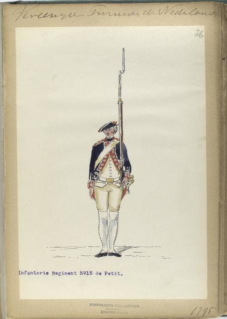 Vereenigde Province de Nederland, Infanterie Regiment No.15 de Petit