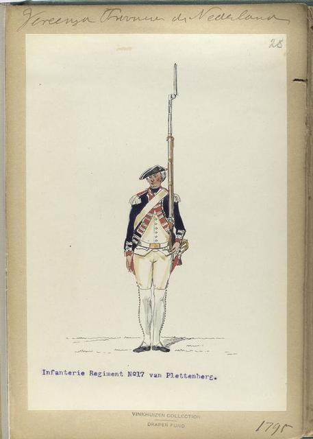 Vereenigde Province de Nederland, Infanterie Regiment No.17 van Plettenberg