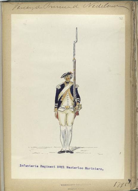 Vereenigde Province de Nederland, Infanterie Regiment No.21 Wesrerloo Mariniers