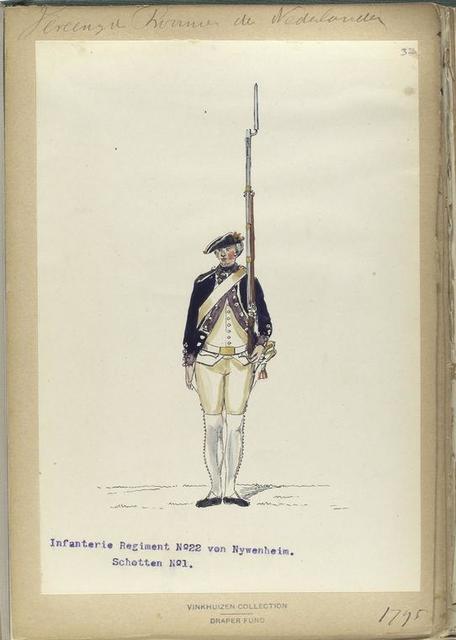 Vereenigde Province de Nederland, Infanterie Regiment No.22 von Nywenheim, Schotten No.1