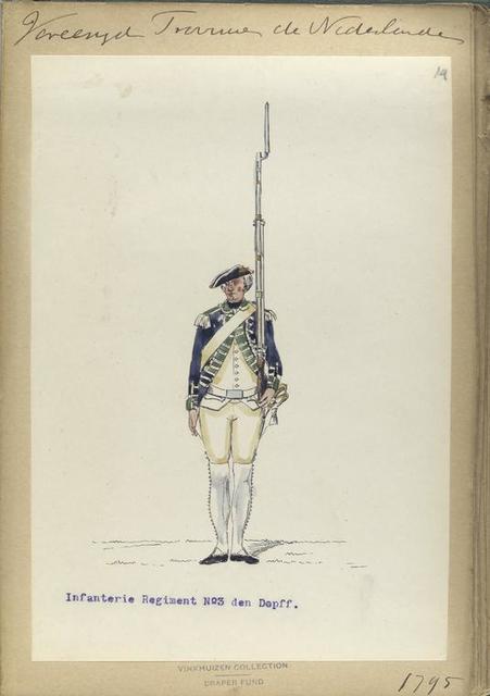 Vereenigde Province de Nederland, Infanterie Regiment No.3 Dopff