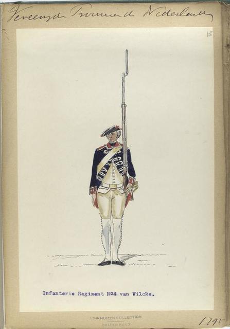 Vereenigde Province de Nederland, Infanterie Regiment No.4 van Wilcke