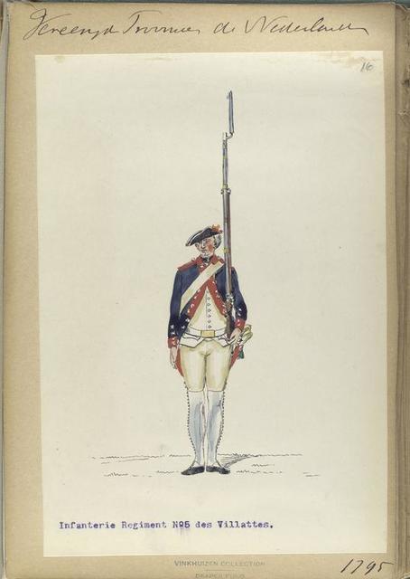 Vereenigde Province de Nederland, Infanterie Regiment No.5 des Villattes