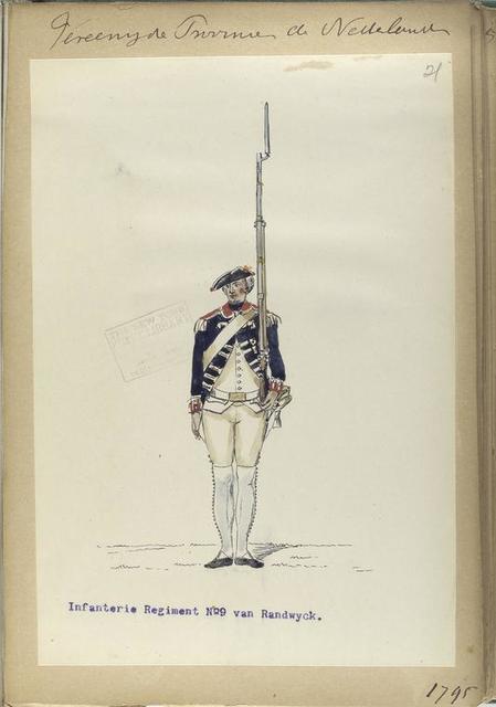Vereenigde Province de Nederland, Infanterie Regiment No.9 van Randwyck