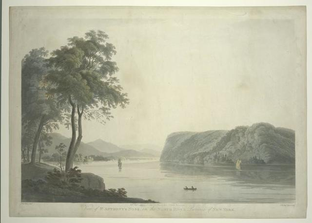 View of St. Anthony's Nose, on the North River Province of New York.