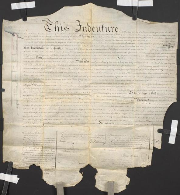 Deed signed by Robert Morris, 1796 May 31