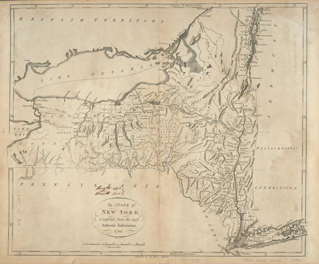The state of New York, compiled from the most authentic information, 1796.