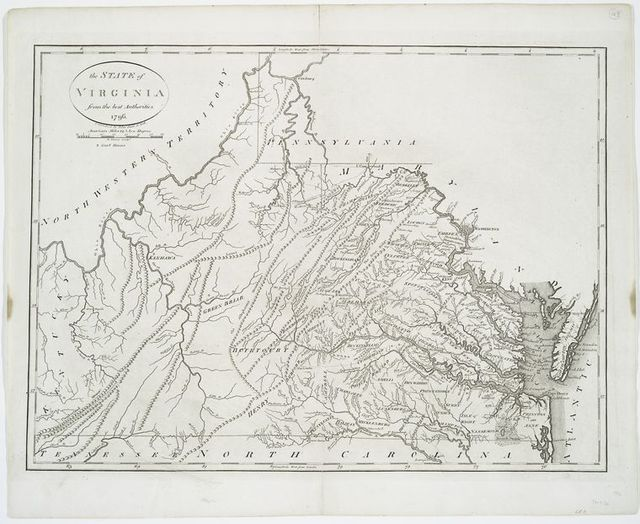 The State of Virginia from the best authorities, 1796