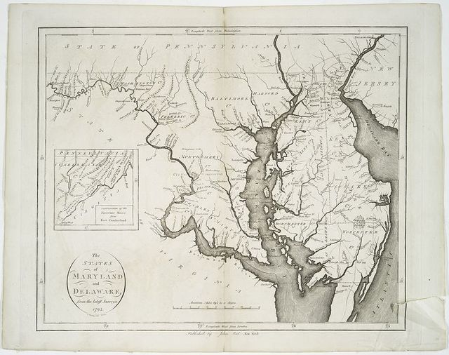 The states of Maryland and Delaware, from the latest surveys, 1795