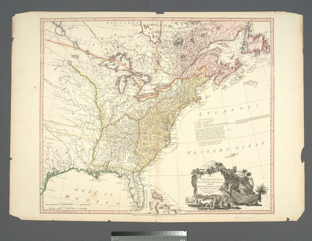 The United States of North America : with the British territories and those of Spain, according to the treaty of 1784