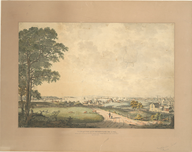 View of the city and harbour of New York, taken from Mount Pitt, the seat of John R. Livingston, Esqre.