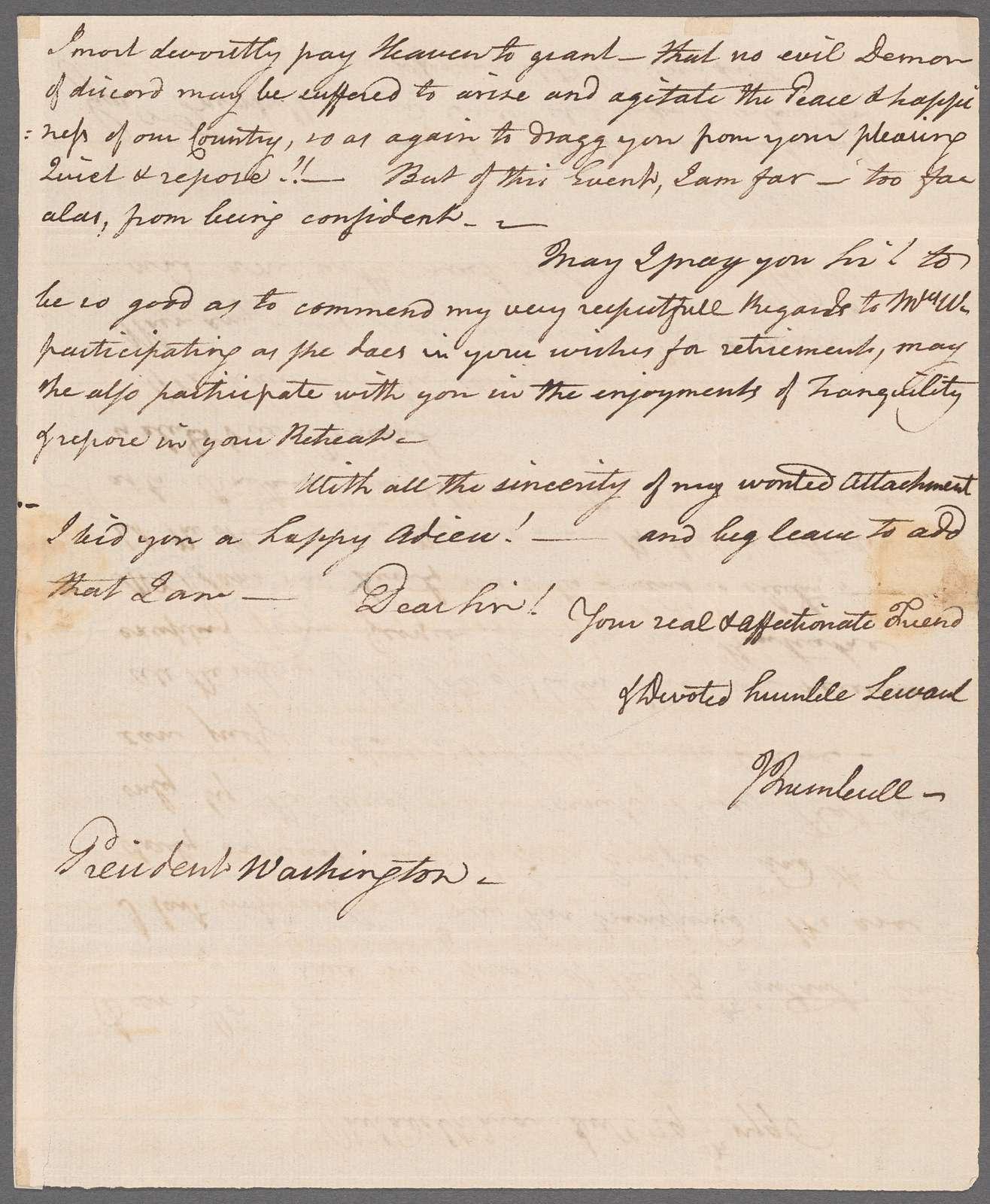 Jonathan Trumbull to George Washington