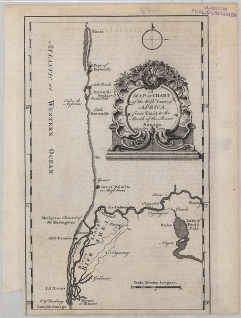 A map or chart of the West Coast of Africa, from Tanit to the mouth of the River Sanaga
