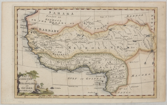 A new & correct map of Negroland and Guinea